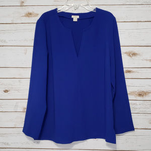 J. Crew Blue Tunic  Top
